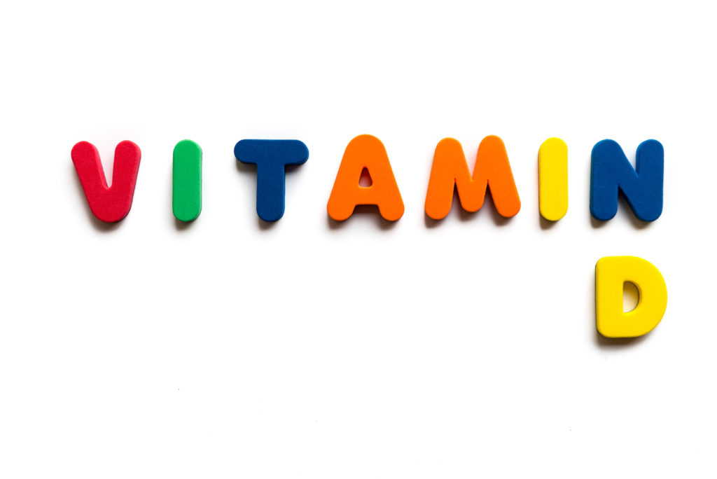 vitamin d colorful word on the white background