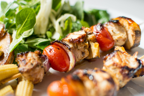 Canva - Grilled Chicken Skewers